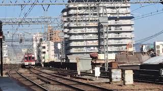 近鉄1252系 VE62+VE76+近鉄8800系FL01編成(急行大阪難波行き)鶴橋駅 入線‼️