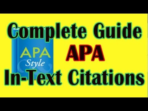 APA In-Text Citation Tips