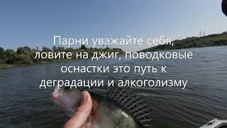 Жор на рыбалке с гидом. Микроджиг, Ока, Московская область, 2019.