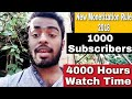 YouTube Monetization & Channel Review New Rule - 1000 subscribers, 4000 hours watch time need