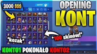 OPENING ACCOUNTS | 2 KOZAK ACCOUNTS FOR YOU | SCORES OF TAMTO GIVEAWEY | #fortnite #opening