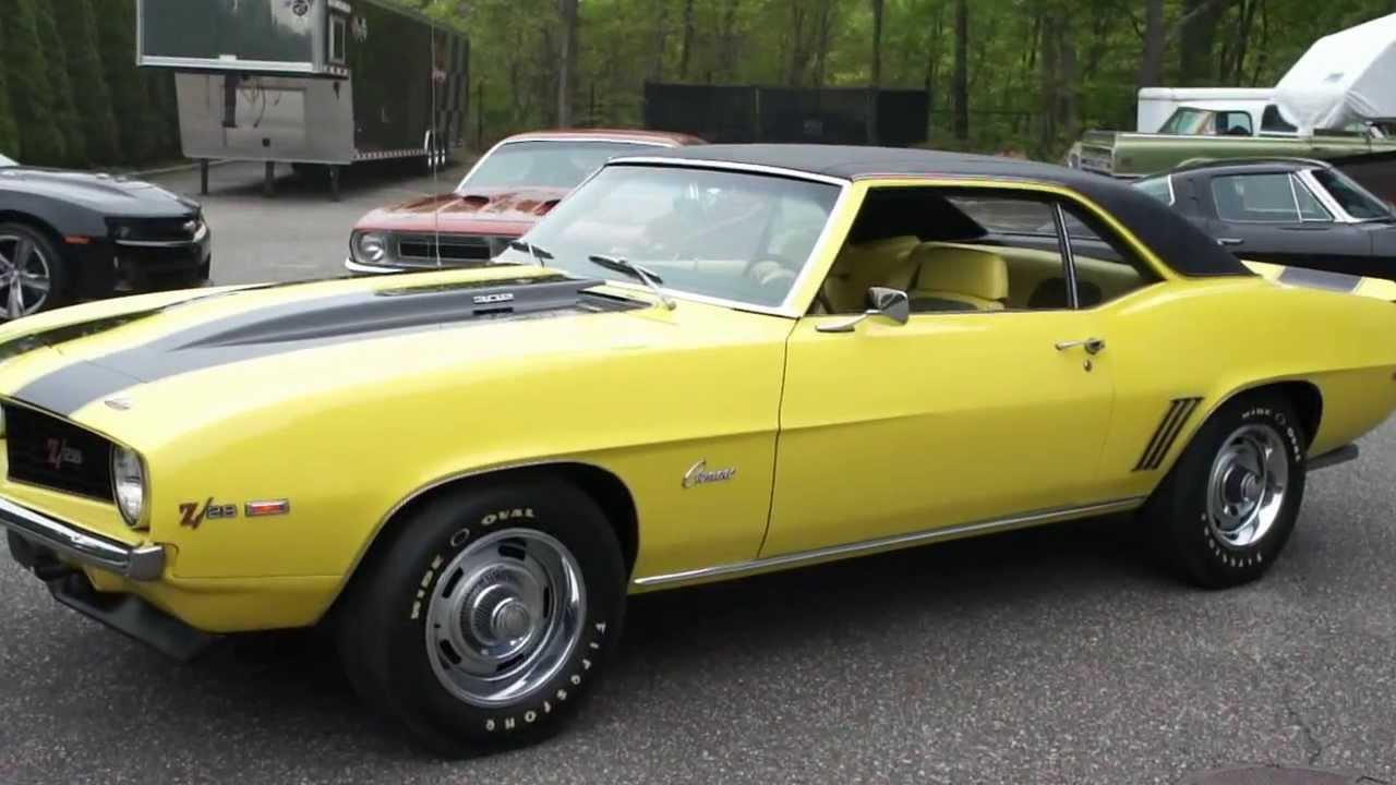 small resolution of 1969 camaro z28 x77 d80 for sale daytona yellow yellow houndstooth interior very rare youtube