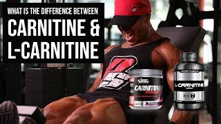 What is the difference between CARNITINE AND L-CARNITINE