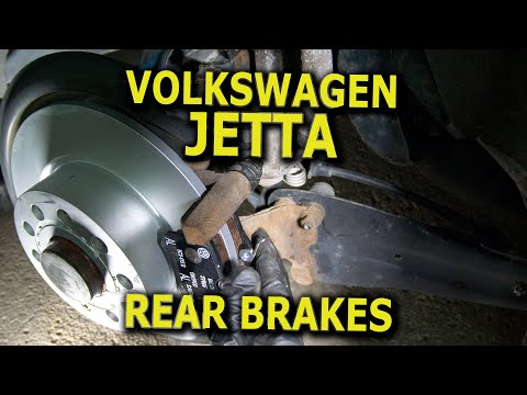 VW Jetta Rear Brake Rotors and Pads replacement DIY