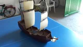 Cardboard Fantasy Ship - 28mm Scale - Warhammer Scenery