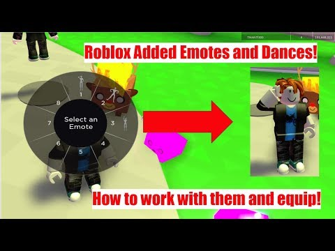 Roblox Added Dances Emotes How To Equip Roblox Emotes Youtube