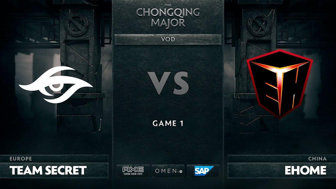 [RU] Team Secret vs EHOME, Game 1, The Chongqing Major UB Round 2