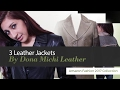 3 Leather Jackets By Dona Michi Leather Amazon Fashion 2017 Collection