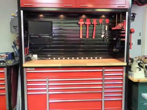 Custom Workbench And Hutch With Metal Slatwall Youtube
