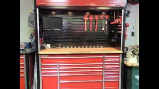 Custom Workbench And Hutch With Metal Slatwall