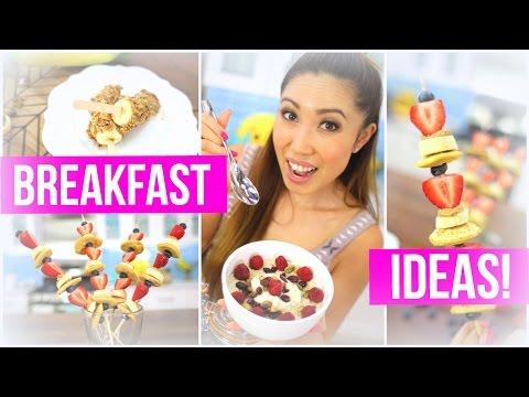Quick & Healthy Breakfast Ideas! Pancake Kabobs, Banana Pops & Berry Crunch Oatmeal!