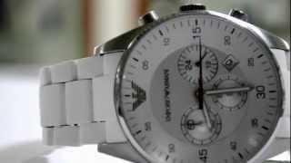 gents emporio armani ar5859 chronograph sport watch