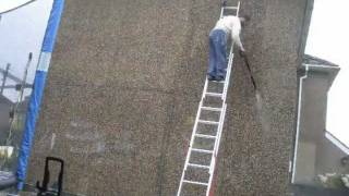 Preparing to Paint Pebbledash
