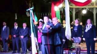 Tradicional Grito de Independencia en San Gabriel Jalisco 2014.