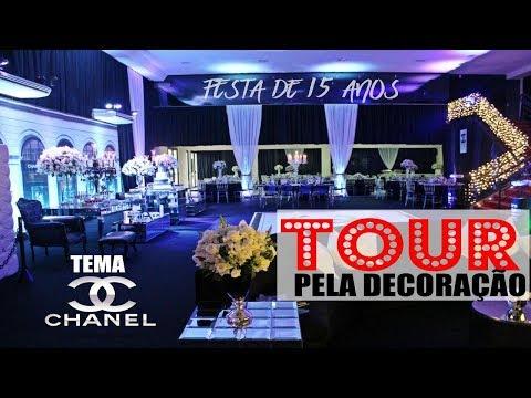 A MELHOR DECORAÇÃO!! FESTA DE 15 ANOS (TEMA CHANEL).