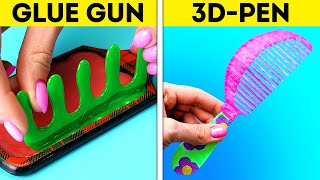 3D-PEN VS. GLUE GUN || Useful DIY Crafts To Save Your Money || Mini Crafts And Repair Tips