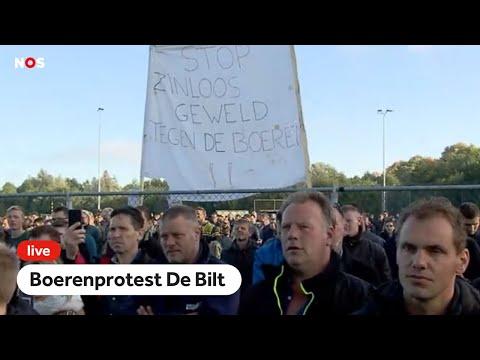 LIVE: #boerenprotest: boeren en RIVM op podium in De Bilt