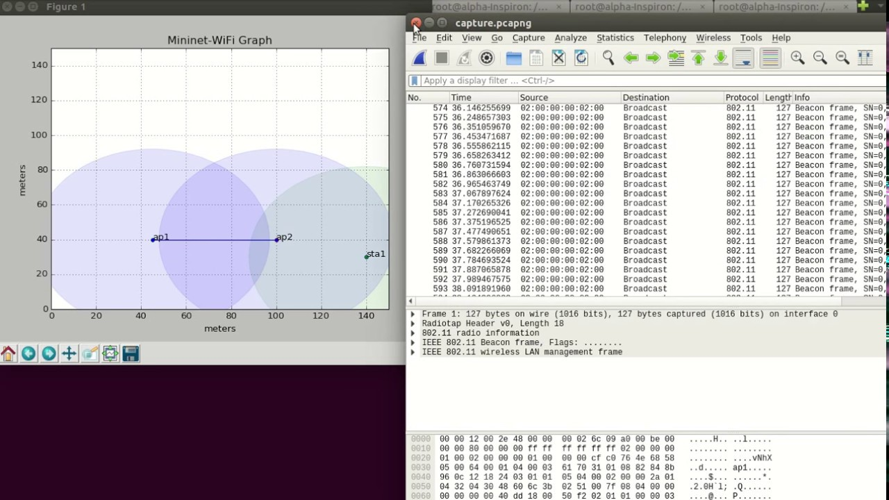 Mininet-WiFi: RSSI Threshold + OF Controller - YouTube