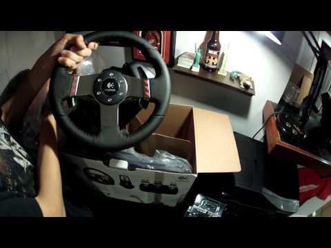 Logitech G27 Steering Wheel Unboxing & Review