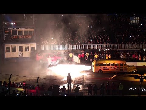 "NitrOlympX 2017 - Nightshow - ""School Time"" Jet School Bus"