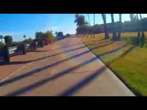 Greenbelt walk / bike path in Scottsdale - Tempe, Arizona
