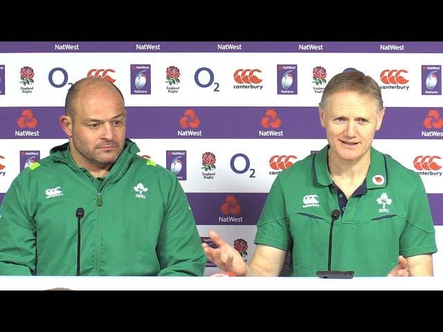 England v Ireland - Joe Schmidt & Rory Best Post Match Press Conference - Six Nations