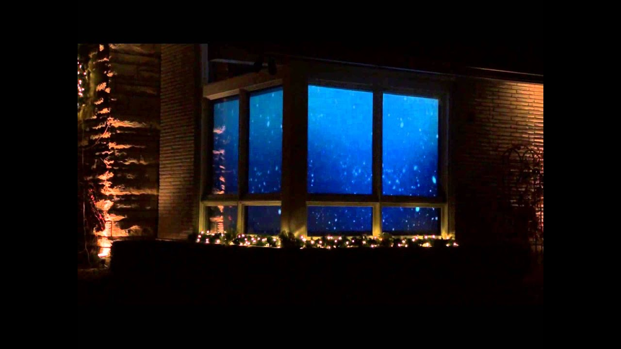 christmas santa in window rear projection display 2012