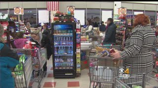 Shoppers Stock Up Ahead Of Storm, Patriots Playoff Game