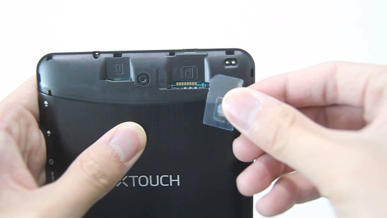 Inserting Sim Card Tutorial Of Xtouch Qf71 Youtube