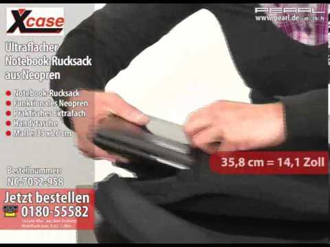 X-Case Ultraflacher Notebook-Rucksack aus Neopren