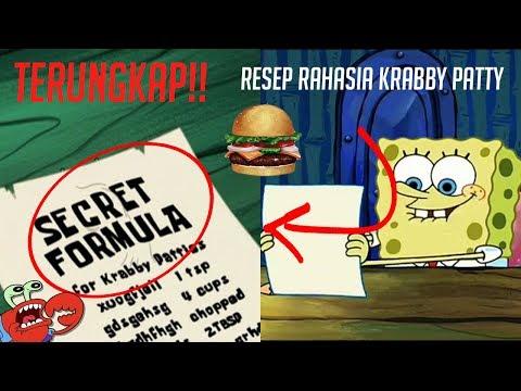 TERUNGKAP!!! ISI RESEP RAHASIA KRABBY PATTY