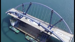 Mega bridge being built in Hong Kong reflects infinite connection with mainland