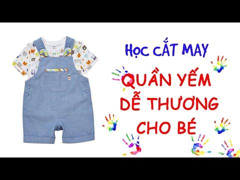 054- Hướng dẫn cắt may quần yếm dễ thương cho bé l Cách may quần yếm bé trai - quần yếm bé gái