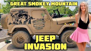 GREAT SMOKEY MOUNTAIN JEEP INVASION - Jeep Rescue & Tow!
