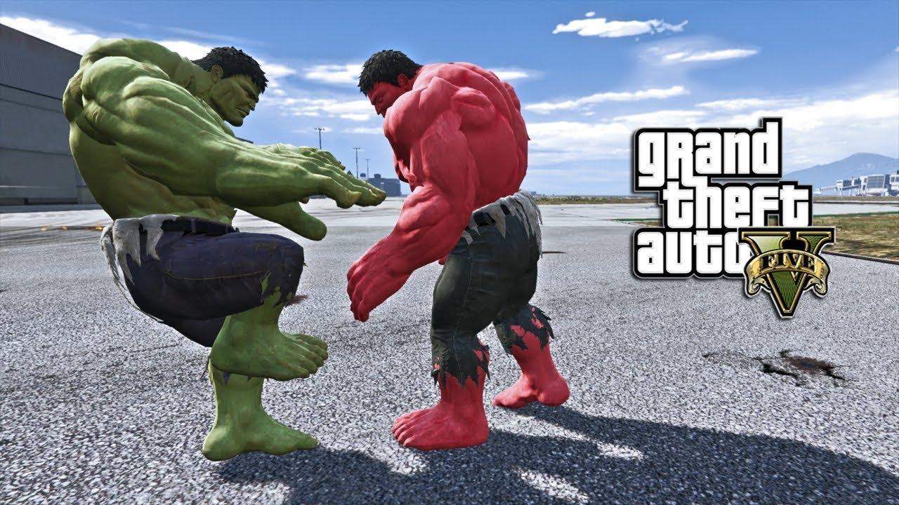 GTA 5 - HULK VS RED HULK (GTA 5 PC MODS)