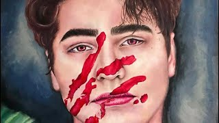 Time lapse of my oil painting of Colby Brock