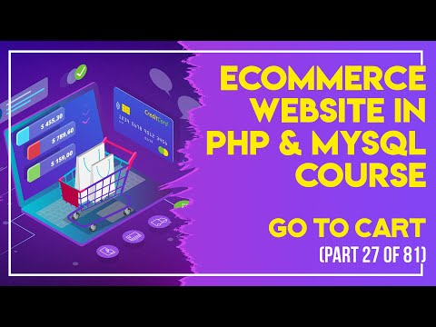 E-Commerce website in PHP & MySQL in Urdu/Hindi part 27 go to cart