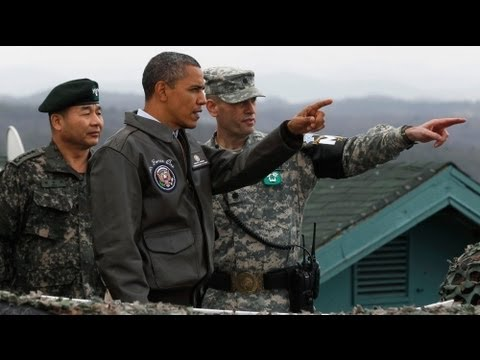 Obama peers into North Korea over 'freedom's frontier'