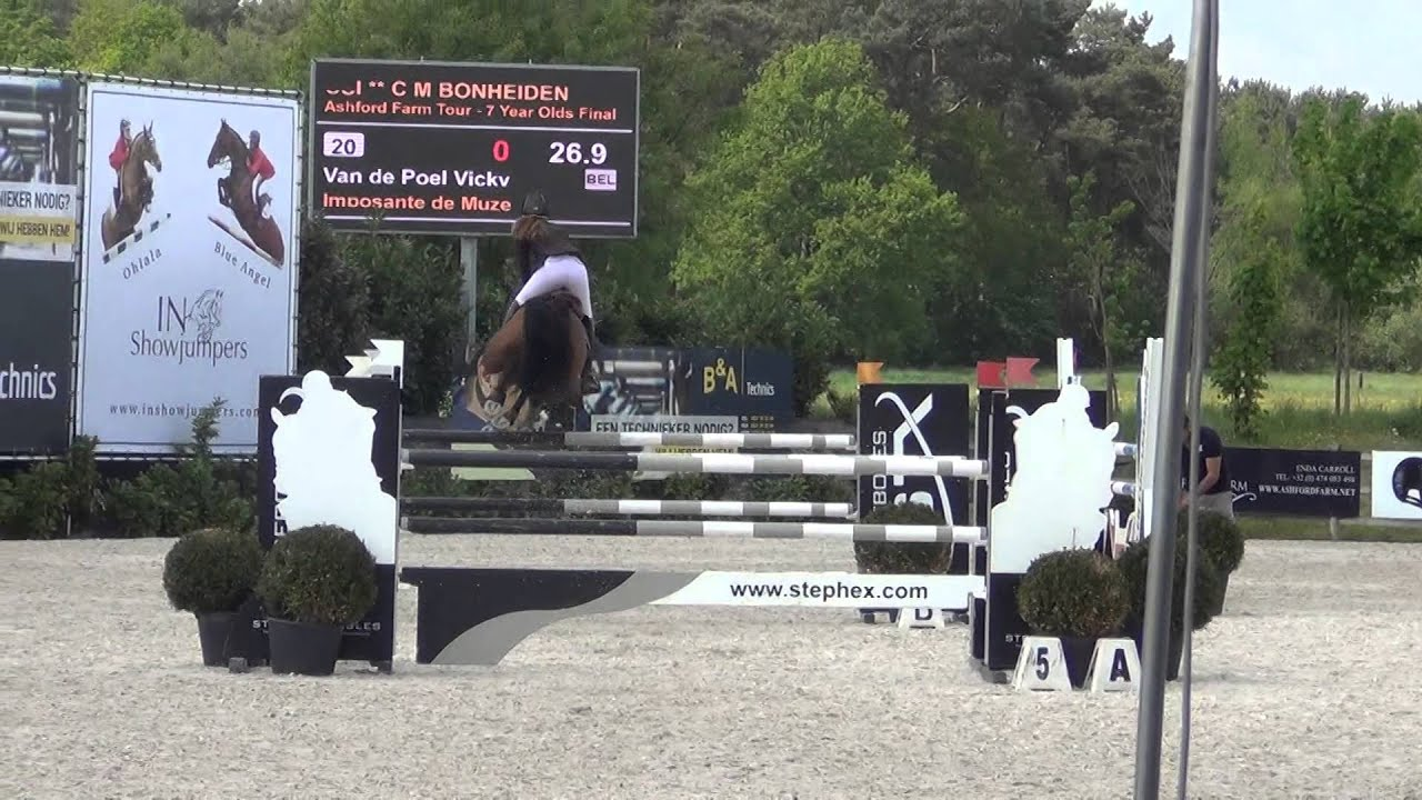 Imposante de Muze - 7yo final CSIYH Bonheiden - 5th place