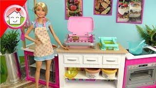 Barbie Film Deluxe Küche - Kochen und Backen mit Barbie - Video für Kinder von Familie Hauser