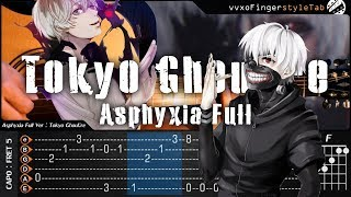 tokyo ghoulre asphyxia full intro unravel fingerstyle guitar cover tab tutorial and chord