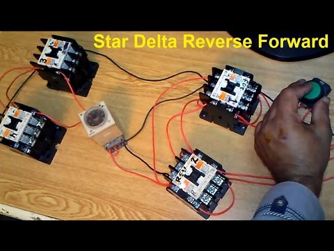Star Delta Reverse Forward Motor Control Circuit Full
