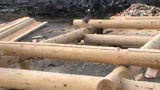 Канадская рубка.  Canadian hand-crafted log cabin. Недорогие срубы в канадку(Срубы из Псковской области: Канадка ( Канадская чаша). http://domlafet.ru Russia log cabin, Russia log house., 2013-04-30T17:25:31.000Z)