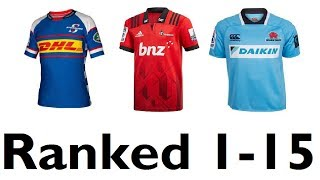 Super Rugby 2018 Jersey Rankings