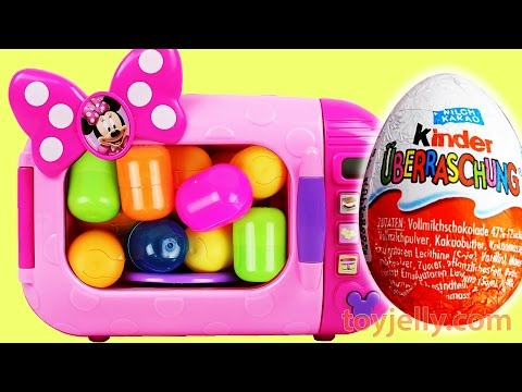Learn Numbers 1 to 20 Microwave Just Like Home Toys Appliances Kinder Surprise Eggs Nursery Rhymes