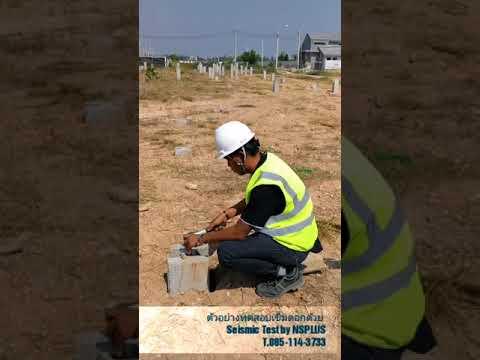การทดสอบความสมบูรณ์เสาเข็มตอกด้วย Seismic Test