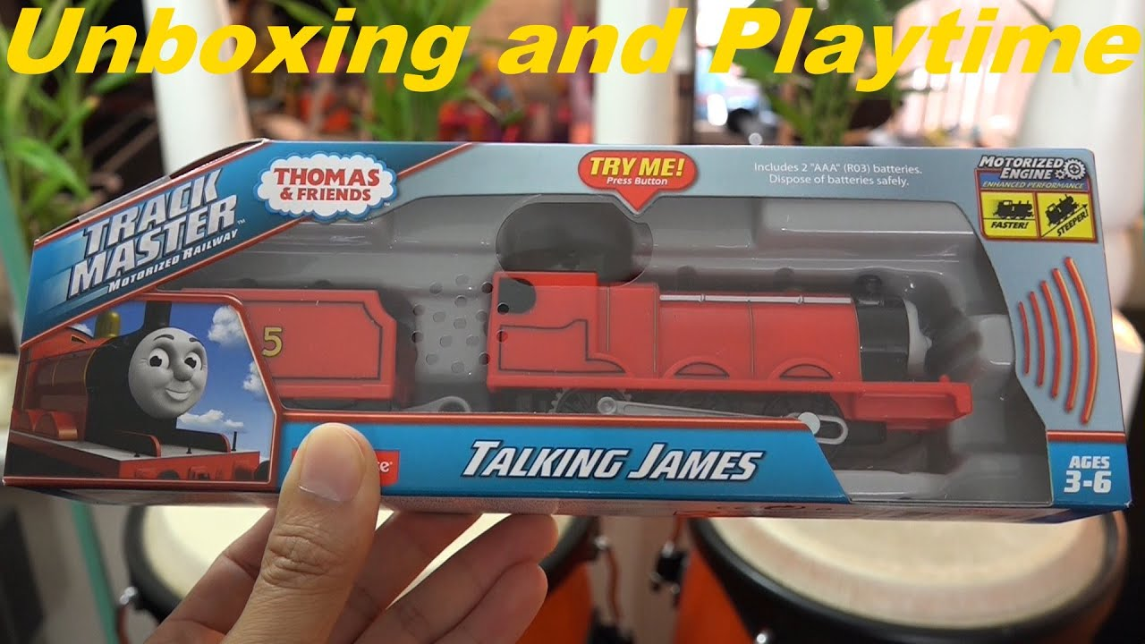 Thomas Friends Unboxing The New All Trackmaster Talking James Playtime