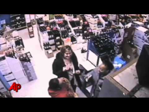 Raw Video: Angry Woman Destroys Liquor at Store