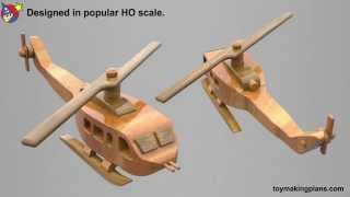 Wood Toy Plans Vietnam Huey Air Base
