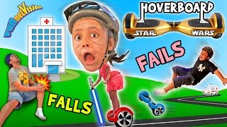 Little Granny Lightsaber! HOVERBOARD Family Fails and Falls! (Star Wars FUNnel Vision Vlog)